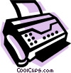 Fax Machines Vector Clipart image