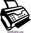 Vector Clipart picture  of a Fax Machines