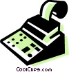Cash Register Vector Clipart illustration