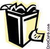 Vector Clip Art graphic  of a Garbage Waste Trash