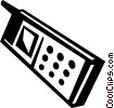 Vector Clipart graphic  of a Cellular Wireless and Cordless