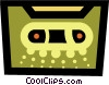 Vector Clip Art graphic  of a Cassette Tapes