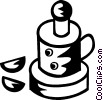 Vector Clipart graphic  of a Mixers