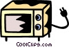 Vector Clipart graphic  of a Microwave Oven