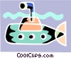 Vector Clip Art image  of a Submarines