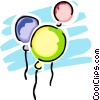 Vector Clip Art graphic  of a balloons