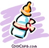 Vector Clip Art image  of a Baby Bottles