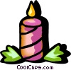 Christmas candle Vector Clipart graphic