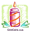 Vector Clip Art picture  of a Christmas candle
