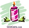 Christmas candle Vector Clipart picture