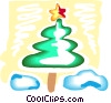 Christmas Trees Vector Clip Art picture