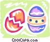 Easter Chicks with Eggs Vector Clipart picture