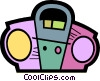 Portable Cassette Players Vector Clip Art graphic