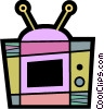 Televisions Vector Clipart graphic