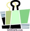 Vector Clip Art image  of an Alligator or Bulldog Clips