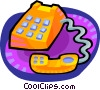 Vector Clip Art image  of a telephone