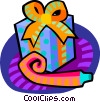 Vector Clip Art image  of a Birthday gift with a noise