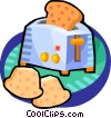 Vector Clip Art graphic  of a toaster