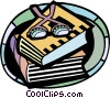 Books Vector Clipart illustration