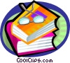 Books and eyeglasses Vector Clip Art picture