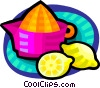 lemon juicer Vector Clipart graphic