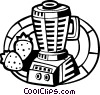 Vector Clip Art picture  of a Mixers