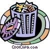 Garbage Waste Trash Vector Clipart graphic