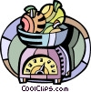 Vector Clipart illustration  of a Kitchen Scales