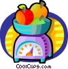 Vector Clip Art picture  of a food scale