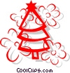 Christmas Trees Vector Clipart illustration