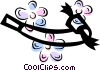 Vector Clip Art image  of a noise maker