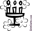 Vector Clipart graphic  of a Menorahs