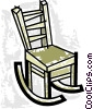 Vector Clip Art image  of a Rocking Chairs