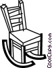 Vector Clipart image  of a Rocking Chairs