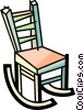 Vector Clip Art graphic  of a Rocking Chairs