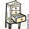 Vector Clipart illustration  of a Drawers and Cabinets