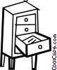 Drawers and Cabinets Vector Clipart graphic