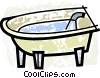 Vector Clipart image  of a Bathtubs