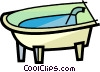 Vector Clipart graphic  of a Bathtubs