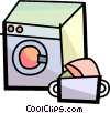 Vector Clip Art image  of a Clothes Dryers