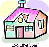 Urban Housing Vector Clip Art graphic