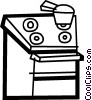 Electric Ovens Vector Clipart illustration