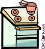 Vector Clip Art image  of a Electric Ovens