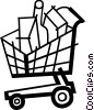 Vector Clip Art image  of a Shopping Carts