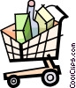 Shopping Carts Vector Clip Art picture