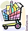 Vector Clip Art graphic  of a Shopping Carts