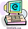 Vector Clipart graphic  of a Online Transactions