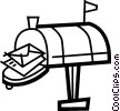 Mailboxes Vector Clip Art graphic