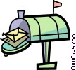 Vector Clipart image  of a Mailboxes