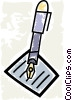 Vector Clipart picture  of a Fountain Pens